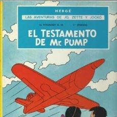 Cómics: LAS AVENTURAS DE JO, ZETTE Y JOCKO: EL TESTAMENTO DE MR. PUMP, 1974, JUVENTUD, BUEN ESTADO. Lote 189615642