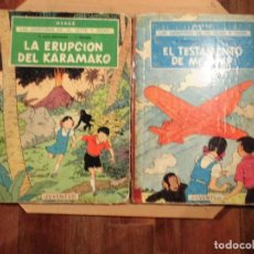 Cómics: LAS AVENTURAS DE JO ZETTE Y JOCKO HERGE JUVENTUD 2 TOMOS 1ª EDICION. Lote 189653522