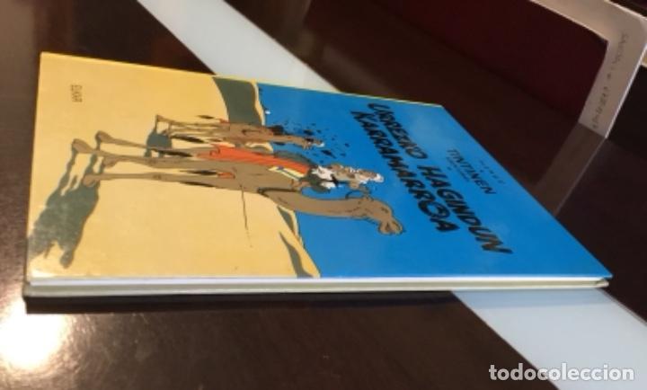 Cómics: Tintin urrezko hagindun karramarro buenisimo estado en euzkera - Foto 2 - 189992992