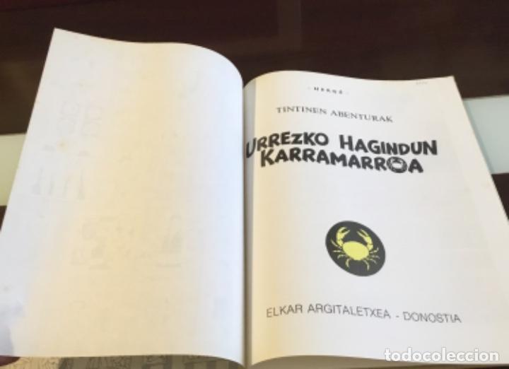 Cómics: Tintin urrezko hagindun karramarro buenisimo estado en euzkera - Foto 7 - 189992992