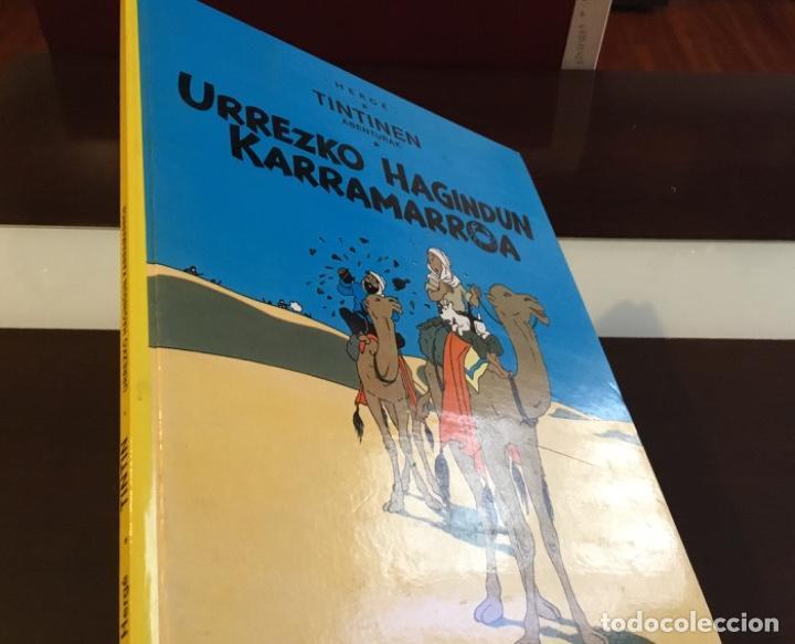 Cómics: Tintin urrezko hagindun karramarro buenisimo estado en euzkera - Foto 16 - 189992992