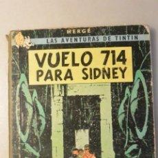 Cómics: COMIC LAS AVENTURAS DE TINTIN VUELO 714, PRIMERA EDICION, ED. JUVENTUD, 1969. Lote 190686497