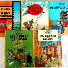 Cómics: COLECCION 5 COMICS TINTIN TAPA DURA (AÑOS 80). Lote 190720592