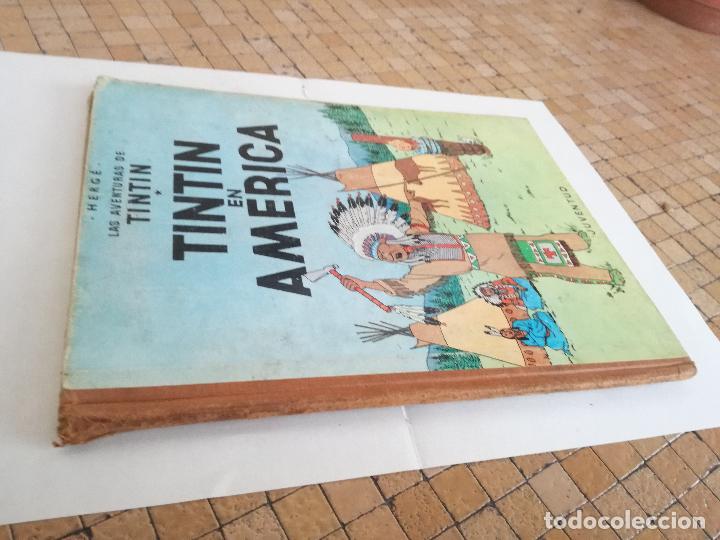 Cómics: TINTIN EN AMÉRICA 1ª PRIMERA EDICIÓN 1968. JUVENTUD. LOMO EN TELA - Foto 2 - 190780203