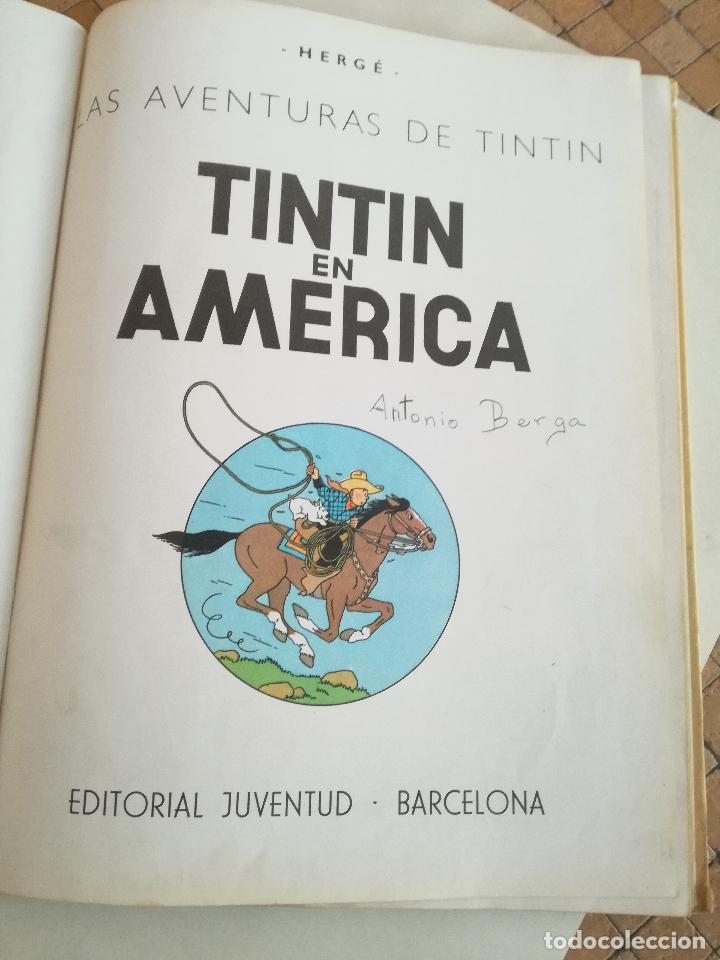 Cómics: TINTIN EN AMÉRICA 1ª PRIMERA EDICIÓN 1968. JUVENTUD. LOMO EN TELA - Foto 4 - 190780203