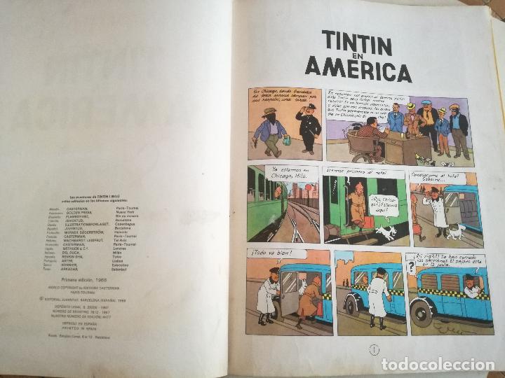 Cómics: TINTIN EN AMÉRICA 1ª PRIMERA EDICIÓN 1968. JUVENTUD. LOMO EN TELA - Foto 5 - 190780203