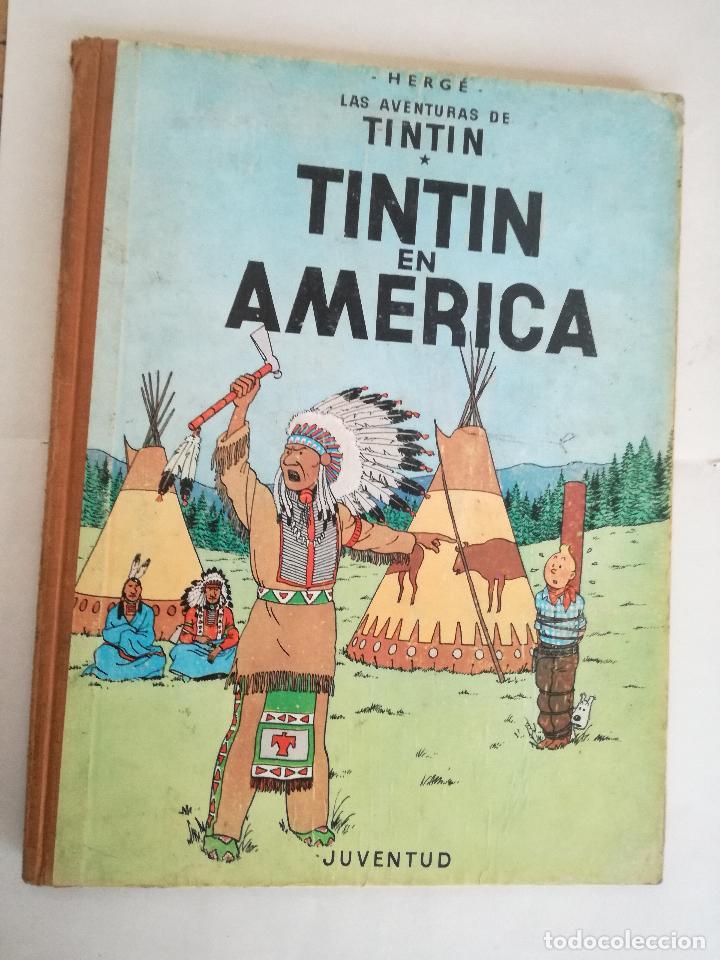 TINTIN EN AMÉRICA 1ª PRIMERA EDICIÓN 1968. JUVENTUD. LOMO EN TELA (Tebeos y Comics - Juventud - Tintín)