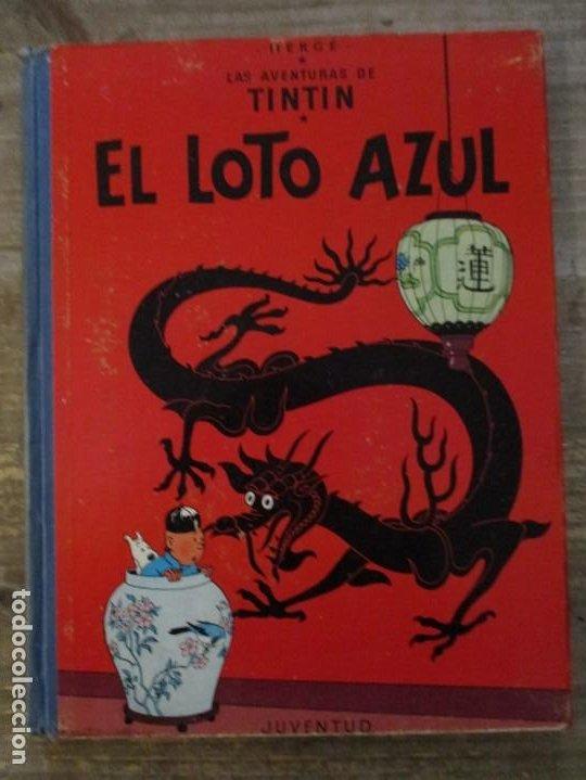 LAS AVENTURAS DE TINTIN - EL LOTO AZUL - LOMO DE TELA - 1ª EDICION - BUEN ESTADO (Tebeos y Comics - Juventud - Tintín)