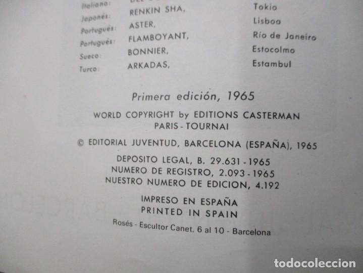 Cómics: LAS AVENTURAS DE TINTIN - EL LOTO AZUL - LOMO DE TELA - 1ª EDICION - BUEN ESTADO - Foto 2 - 190847215