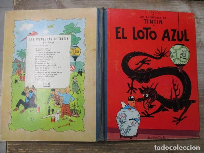 Cómics: LAS AVENTURAS DE TINTIN - EL LOTO AZUL - LOMO DE TELA - 1ª EDICION - BUEN ESTADO - Foto 3 - 190847215