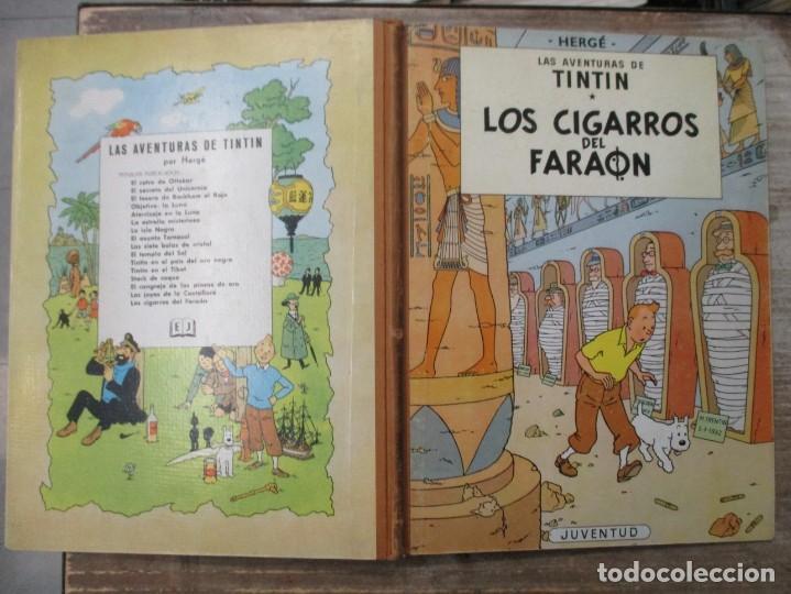 Cómics: LAS AVENTURAS DE TINTIN - LOS CIGARROS DEL FARAON - LOMO DE TELA - 1ª EDICION - BUEN ESTADO - Foto 3 - 190847393