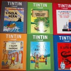 Cómics: LOTE 6 CÓMIC TINTIN ITALIA ITALIANO TAPA DURA INEDITO EN TC. Lote 191414777