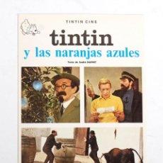 Cómics: POSTAL DE TINTIN Y LAS NARANJAS AZULES. EDITORIAL JUVENTUD. 1983. NUEVA. Lote 191541746