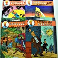 Comics : BARELLI Nº 1, 2, 3 Y 4 - BOB DE MOOR - EDITORIAL JUVENTUD - 1º EDICIÓN 1990, 1991 - TAPA DURA. Lote 191584267