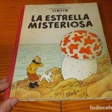 Cómics: LAS AVENTURAS DE TÍNTIN . LA ESTRELLA MISTERIOSA . LOMO EN TELA . HERGÉ. JUVENTUD . 1967 .. Lote 191939297