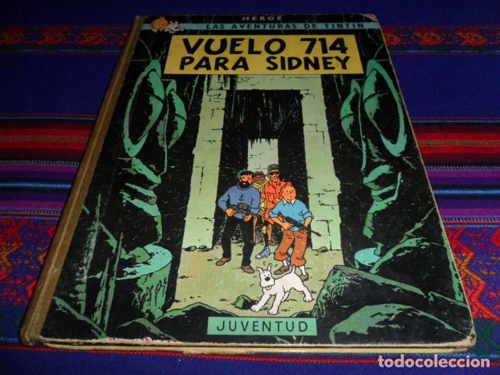 TINTIN VUELO 714 PARA SIDNEY. JUVENTUD 1ª PRIMERA EDICIÓN 1969. CORRECTO ESTADO. (Tebeos y Comics - Juventud - Tintín)