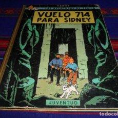 Comics : TINTIN VUELO 714 PARA SIDNEY. JUVENTUD 1ª PRIMERA EDICIÓN 1969. CORRECTO ESTADO.. Lote 191959948