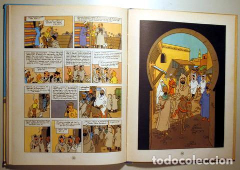 Cómics: HERGÉ - LAS AVENTURAS DE TINTIN. EL CANGREJO DE LAS PINZAS DE ORO - Barcelona 1971 - Muy ilustrado - - Foto 2 - 192549320