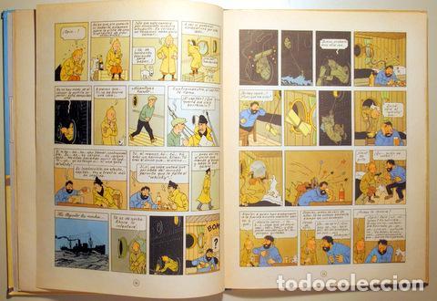 Cómics: HERGÉ - LAS AVENTURAS DE TINTIN. EL CANGREJO DE LAS PINZAS DE ORO - Barcelona 1971 - Muy ilustrado - - Foto 3 - 192549320