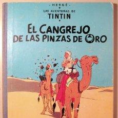Cómics: HERGÉ - LAS AVENTURAS DE TINTIN. EL CANGREJO DE LAS PINZAS DE ORO - BARCELONA 1971 - MUY ILUSTRADO -. Lote 192549320