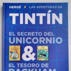 Cómics: HERGÉ LAS AVENTURAS DE TINTÍN EL SECRETO DEL UNICORNIO & EL TESORO DEL RACKHAM EL ROJO ED. JUVENTUD. Lote 192853435