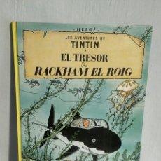 Cómics: LES AVENTURES DE TINTIN EL TRESOR DE RACKHAM EL ROIG - HERGÉ, ED. JOVENTUT, 2003. Lote 193245166