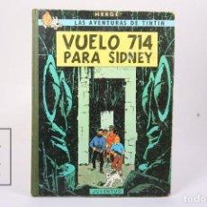 Comics: CÓMIC TAPA DURA - TINTIN VUELO 714 PARA SIDNEY - EDIT. JUVENTUD - AÑO 1971- 2º EDICIÓN. Lote 193936372