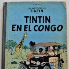 Cómics: LAS AVENTURAS DE TINTÍN - TINTIN EN EL CONGO - PRIMERA EDICIÓN 1968 - LOMO TELA - VER DESCRIPCIÓN. Lote 193941742