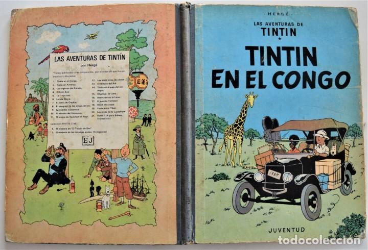 Cómics: LAS AVENTURAS DE TINTÍN - TINTIN EN EL CONGO - PRIMERA EDICIÓN 1968 - LOMO TELA - VER DESCRIPCIÓN - Foto 2 - 193941742