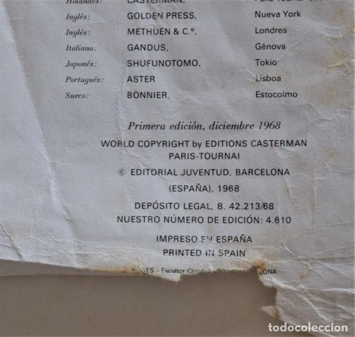 Cómics: LAS AVENTURAS DE TINTÍN - TINTIN EN EL CONGO - PRIMERA EDICIÓN 1968 - LOMO TELA - VER DESCRIPCIÓN - Foto 4 - 193941742