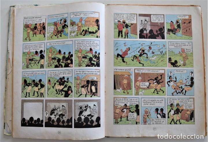 Cómics: LAS AVENTURAS DE TINTÍN - TINTIN EN EL CONGO - PRIMERA EDICIÓN 1968 - LOMO TELA - VER DESCRIPCIÓN - Foto 6 - 193941742