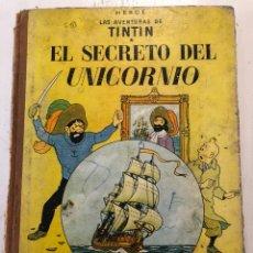 Cómics: TINTIN EL SECRETO DEL UNICORNIO 3A EDICION 1965. Lote 194059395