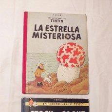 Cómics: 2 TOMOS TINTIN AÑOS 60 1ª Y 3ª EDICION LOMO DE TELA JUVENTUD HERGE. Lote 194171853