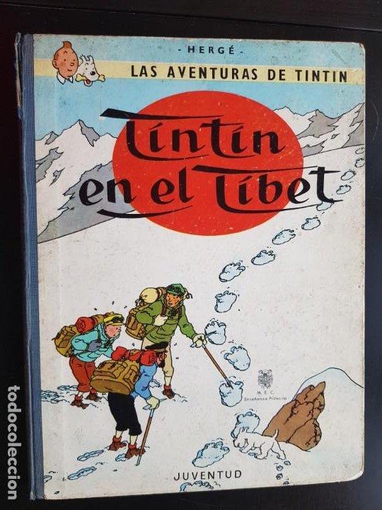 TEBEO / CÓMIC TINTIN EN EL TIBET LOMO TELA ORIGINAL 4 EDICIÓN 1970 JUVENTUD (Tebeos y Comics - Juventud - Tintín)