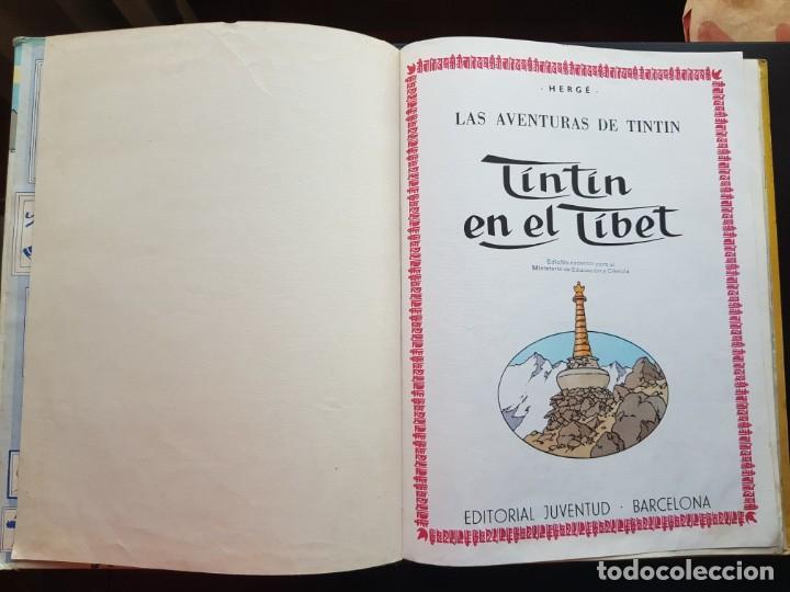 Cómics: TEBEO / CÓMIC TINTIN EN EL TIBET LOMO TELA ORIGINAL 4 EDICIÓN 1970 JUVENTUD - Foto 3 - 194229560