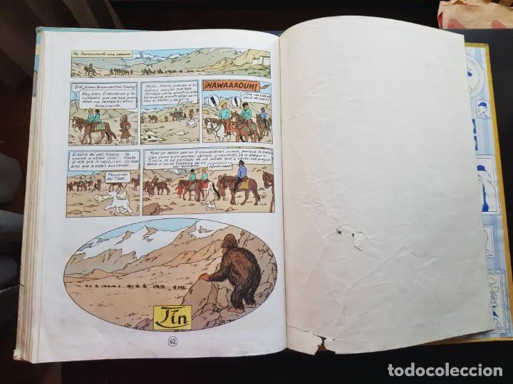 Cómics: TEBEO / CÓMIC TINTIN EN EL TIBET LOMO TELA ORIGINAL 4 EDICIÓN 1970 JUVENTUD - Foto 4 - 194229560