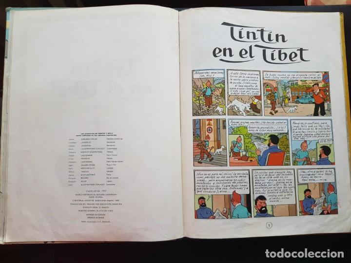 Cómics: TEBEO / CÓMIC TINTIN EN EL TIBET LOMO TELA ORIGINAL 4 EDICIÓN 1970 JUVENTUD - Foto 6 - 194229560