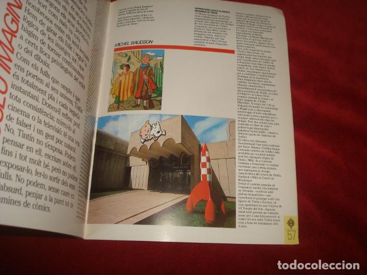 Cómics: LIBRO TINTIN A BARCELONA HOMENAGE A HERGE MUSEO IMAGINARIO DE TINTIN FUNDACION MIRO 63 PAGINAS - Foto 2 - 194238965