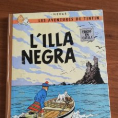 Cómics: TINTIN LA ISLA NEGRA .PRIMERA EDICION 1966.ED .JUVENTUD.EN CATALAN. Lote 194557491