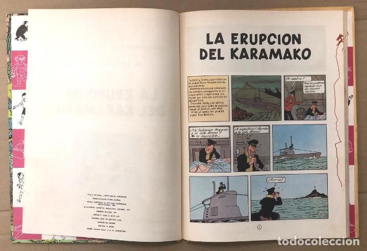 Cómics: LAS AVENTURAS DE JO, ZETTE Y JOCKO. LA ERUPCION DEL KARAMAKO. HERGÉ. JUVENTUD, 1971. 1ª EDICION - Foto 3 - 194569428