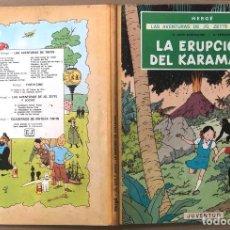 Cómics: LAS AVENTURAS DE JO, ZETTE Y JOCKO. LA ERUPCION DEL KARAMAKO. HERGÉ. JUVENTUD, 1971. 1ª EDICION. Lote 194569428