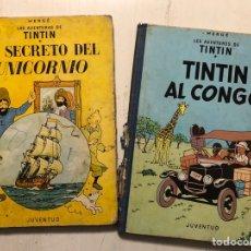 Cómics: TINTIN 2 TOMOS AÑOS 60. Lote 194626706