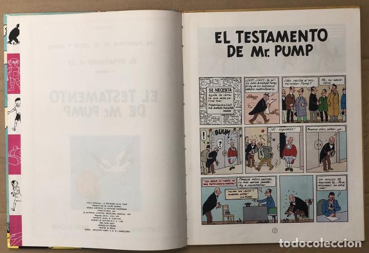 Cómics: EL TESTAMENTO DE MR. PUMP. LAS AVENTURAS DE JO, ZETTE Y JOCKO. HERGÉ. JUVENTUD, 1974. 2ª EDICION - Foto 3 - 194659088
