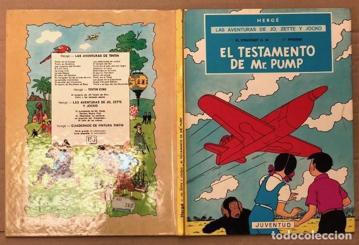 EL TESTAMENTO DE MR. PUMP. LAS AVENTURAS DE JO, ZETTE Y JOCKO. HERGÉ. JUVENTUD, 1974. 2ª EDICION (Tebeos y Comics - Juventud - Otros)