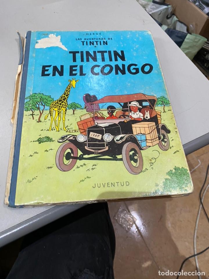 TINTIN EN EL CONGO PRIMERA EDICION 1968 USADO - VER LAS IMÁGENES (Tebeos y Comics - Juventud - Tintín)
