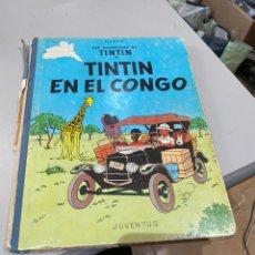 Cómics: TINTIN EN EL CONGO PRIMERA EDICION 1968 USADO - VER LAS IMÁGENES. Lote 194703335
