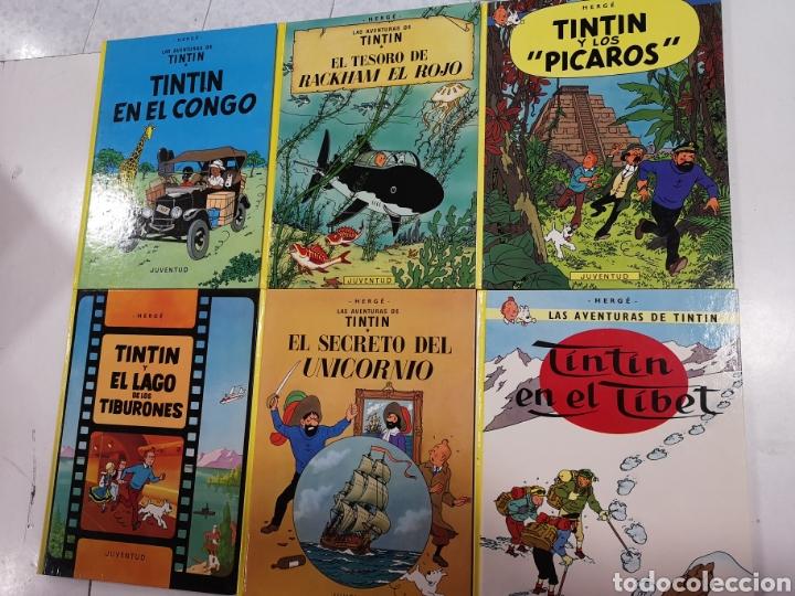 Cómics: 22 libros de las aventuras de tintin - Foto 2 - 194704371