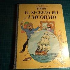 Cómics: TINTIN. EL SECRETO DEL UNICORNIO. 4ª EDICION (1968). (M-3). Lote 194708786