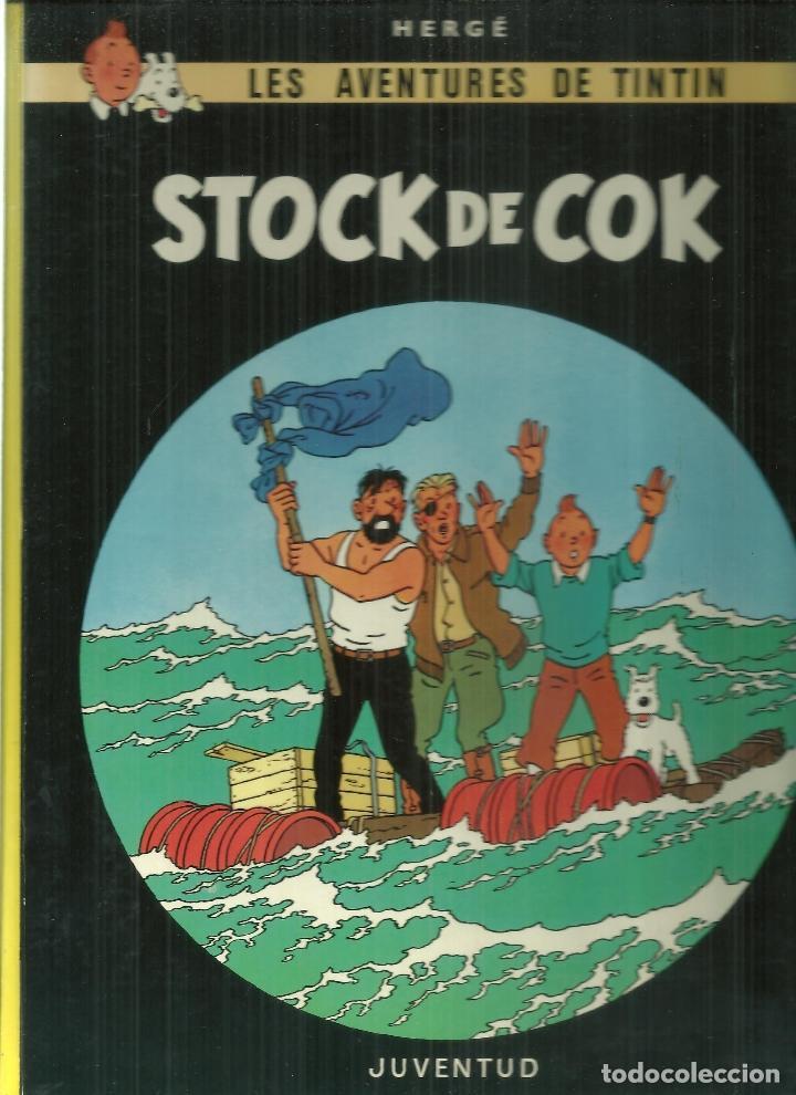 163.- TINTIN -HERGE - STOCK DE COK- EDICION EN ASTURIANU - BABLE - ÚNICA EDICION 1988 (Tebeos y Comics - Juventud - Tintín)