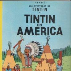 Comics : LAS AVENTURAS DE TINTIN-E.D. JUVENTUD-AÑO 1998-COLOR-CARTON-TINTIN EN AMERICA. Lote 194874516
